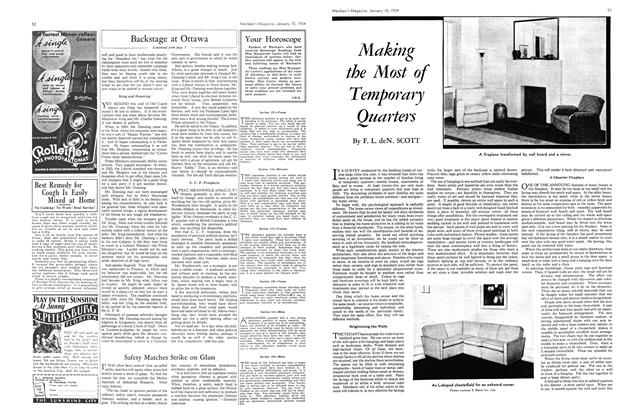 Article Preview: Making the Most of Temporary Quarters, January 1934 | Maclean's