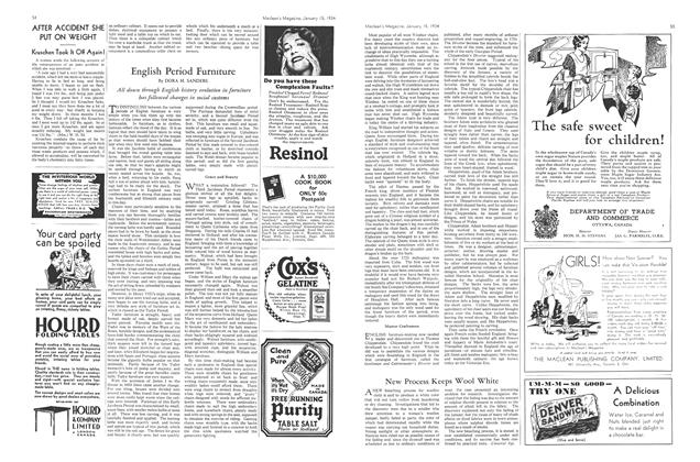 Article Preview: English Period Furniture, January 1934 | Maclean's