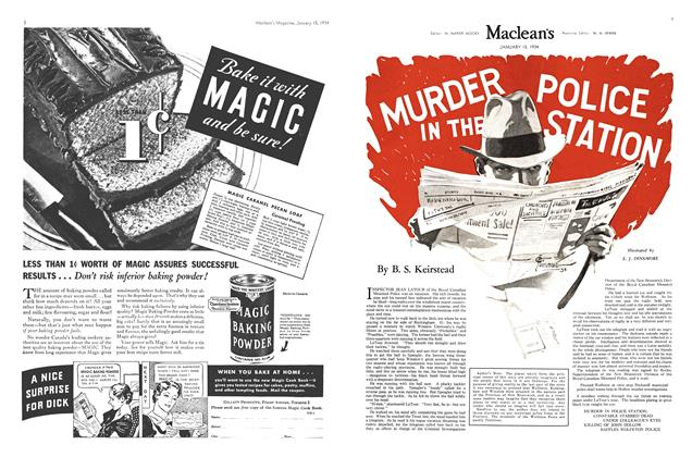 Article Preview: MURDER POLICE IN THE STATION, January 1934 | Maclean's