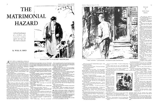 Article Preview: THE MATRIMONIAL HAZARD, January 1934 | Maclean's