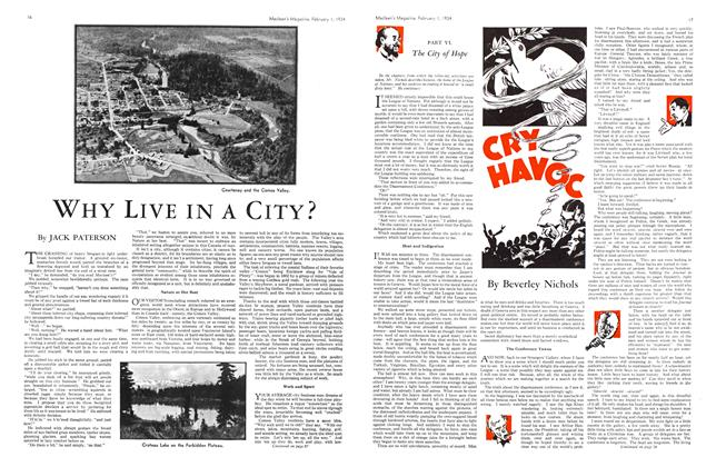 Article Preview: WHY LIVE IN A CITY?, February 1934 | Maclean's