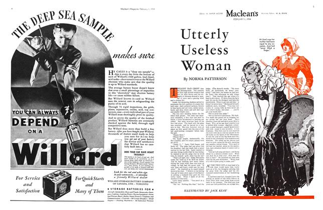 Article Preview: Utterly Useless Woman, February 1934 | Maclean's