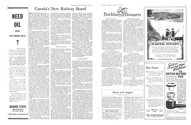 Article Preview: Canada's New Railway Board, February 1934 | Maclean's