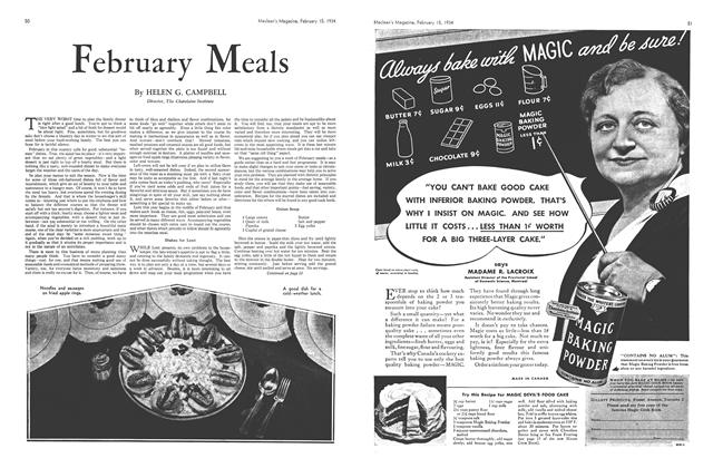 Article Preview: February Meals, February 1934 | Maclean's