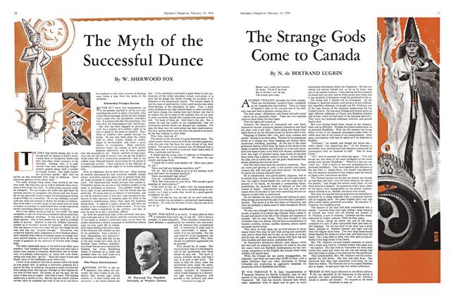 Article Preview: The Myth of the Successful Dunce, February 1934 | Maclean's