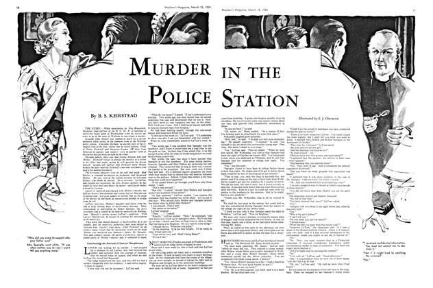 Article Preview: MURDER IN THE POLICE STATION, March 15th 1934 1934 | Maclean's