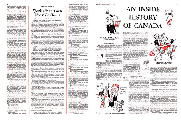 Article Preview: AN INSIDE HISTORY OF CANADA, March 15th 1934 1934   Maclean's