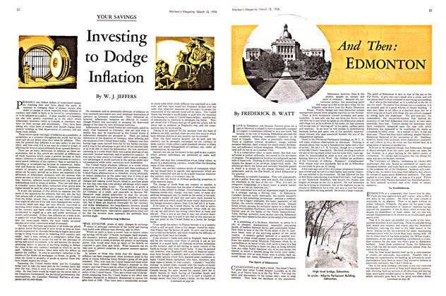 Article Preview: Investing to Dodge Inflation, March 15th 1934 1934 | Maclean's