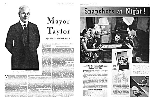Article Preview: Mayor Taylor, March 15th 1934 1934 | Maclean's