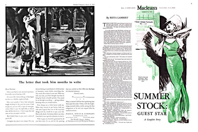 Article Preview: SUMMER STOCK: GUEST STAR, March 15th 1934 1934 | Maclean's
