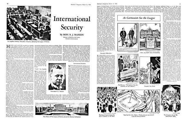 Article Preview: International Security, March 15th 1934 1934 | Maclean's