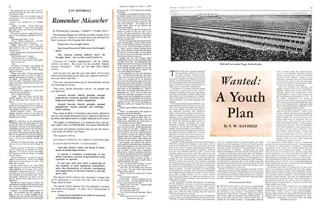 Article Preview: Wanted: A Youth Plan, April 1934 | Maclean's