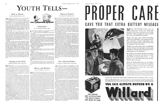 Article Preview: For a Planned Policy, April 1934 | Maclean's