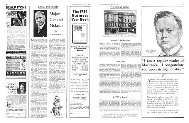 Article Preview: Major General McLean, April 1934 | Maclean's