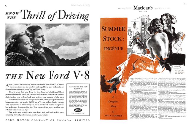 Article Preview: SUMMER STOCK: INGÉNUE, April 1934 | Maclean's