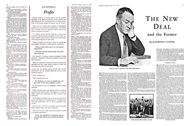 Article Preview: THE NEW DEAL and the Farmer, April 1934 | Maclean's