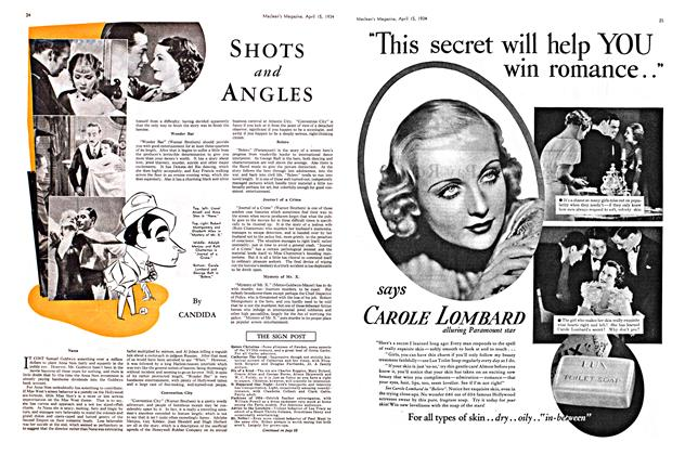 Article Preview: SHOTS and ANGLES, April 1934 | Maclean's