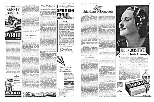 Article Preview: What We Learned, April 1934 | Maclean's
