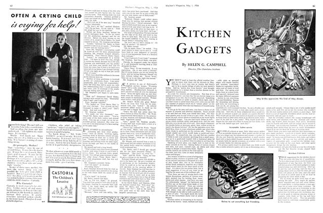 Article Preview: KITCHEN GADGETS, May 1st 1934 1934 | Maclean's