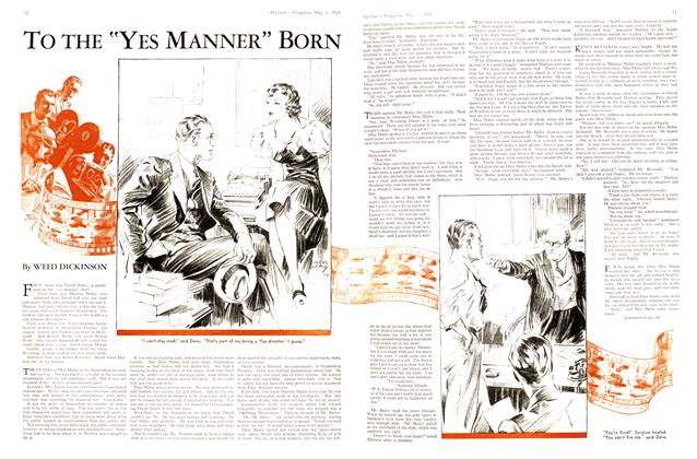 "Article Preview: To THE ""YES MANNER"" BORN, May 1st 1934 1934 