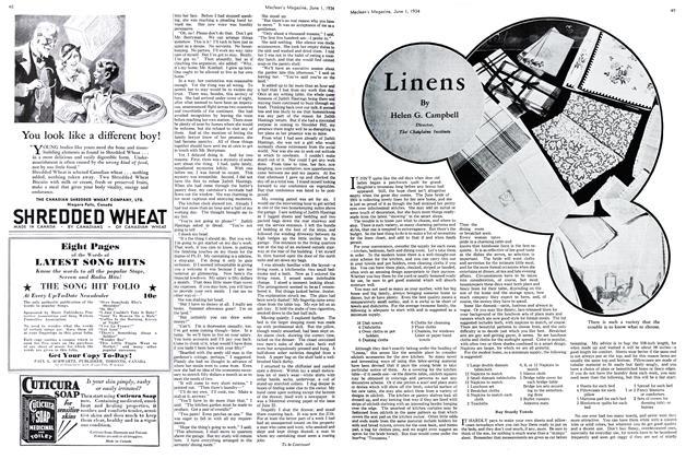 Article Preview: Linens, June 1st 1934 1934 | Maclean's