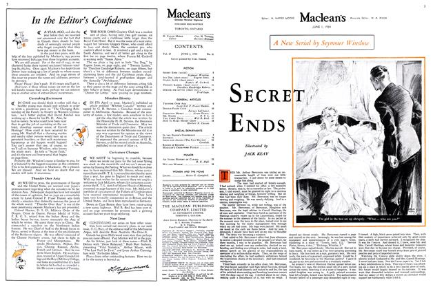 Article Preview: SECRET ENDS, June 1st 1934 1934 | Maclean's