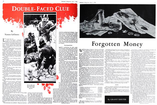 Article Preview: DOUBLE-FACED CLUE, June 1st 1934 1934 | Maclean's