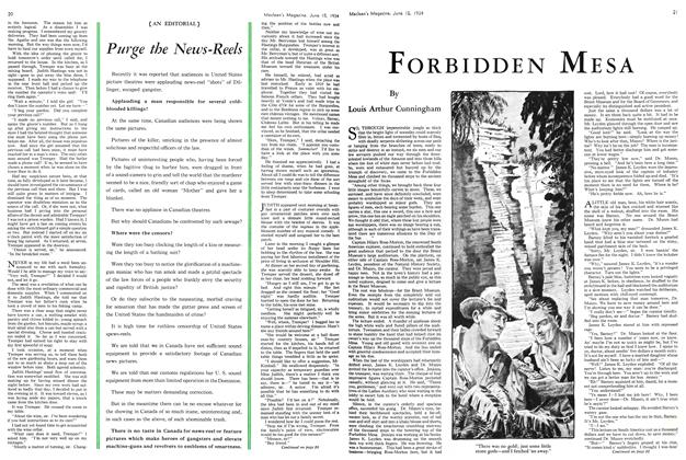 Article Preview: FORBIDDEN MESA, June 15th 1934 1934 | Maclean's