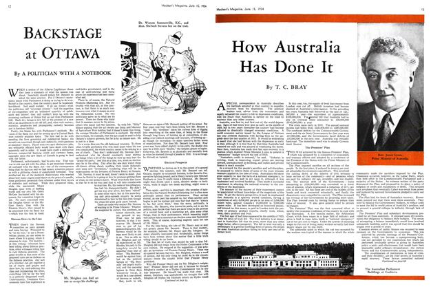 Article Preview: BACKSTAGE at OTTAWA, June 15th 1934 1934 | Maclean's