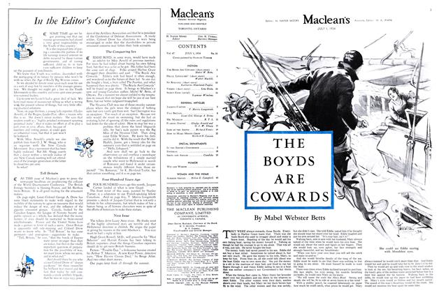 Article Preview: THE BOYDS ARE COWARDS, July 1st 1934 1934 | Maclean's