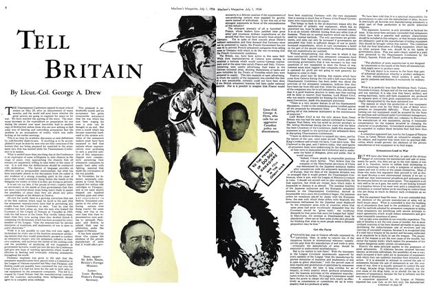 Article Preview: TELL BRITAIN, July 1st 1934 1934 | Maclean's