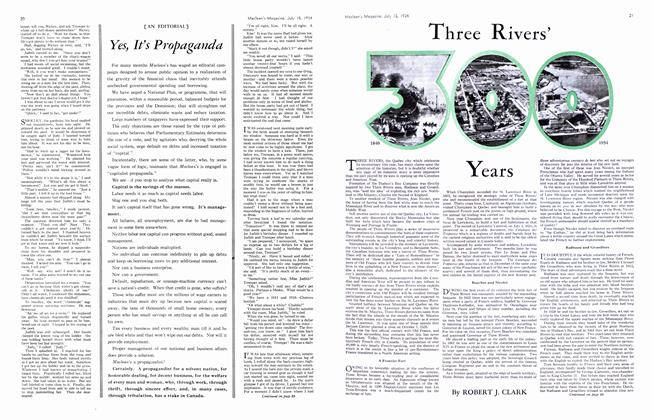 Article Preview: Theree Rivers' 300 Years, July 1934   Maclean's