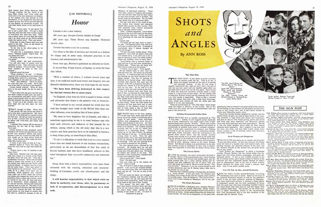 Article Preview: SHOTS and ANGLES, August 1934 | Maclean's