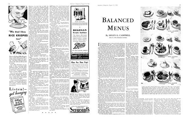 Article Preview: BALANCED MENUS, August 1934 | Maclean's