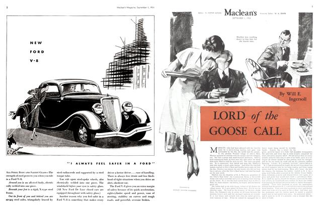 Article Preview: LORD of the GOOSE CALL, September 1934 | Maclean's