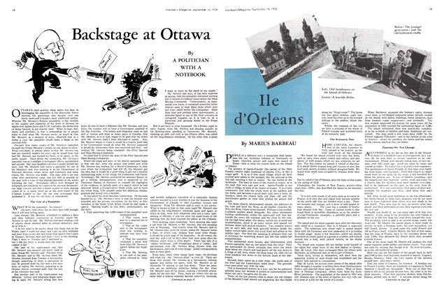 Article Preview: Backstage at Ottawa, September 1934 | Maclean's