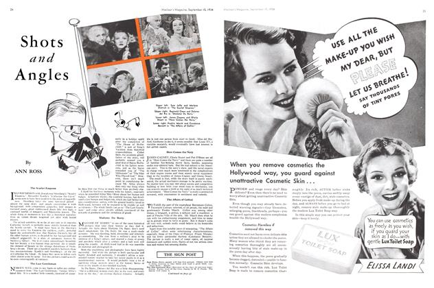 Article Preview: Shots and Angles, September 1934 | Maclean's