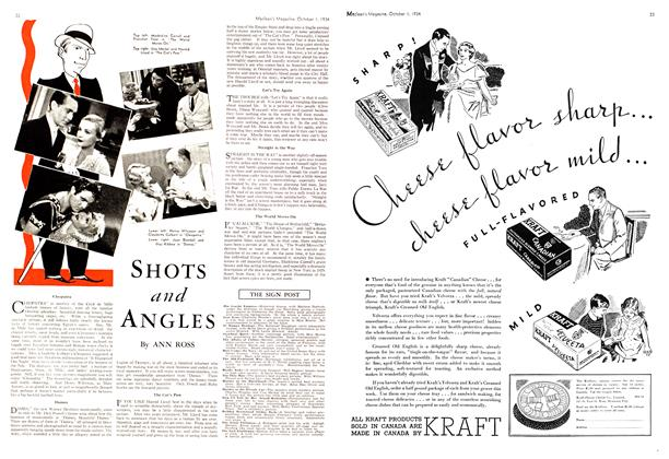 Article Preview: SHOTS and ANGLES, October 1st 1934 1934 | Maclean's