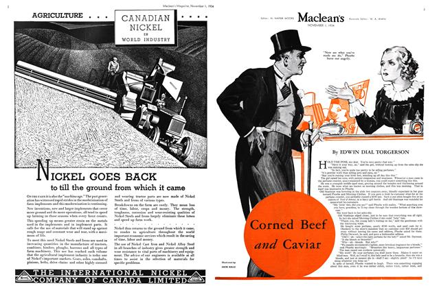 Article Preview: Corned Beef and Caviar, November 1st 1934 1934 | Maclean's