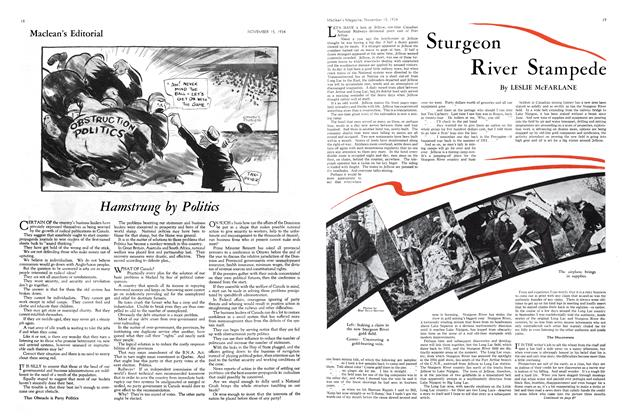 Article Preview: Sturgeon River Stampede, November 1934 | Maclean's