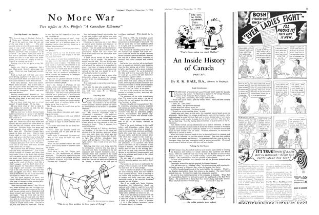 Article Preview: No More War, November 1934 | Maclean's