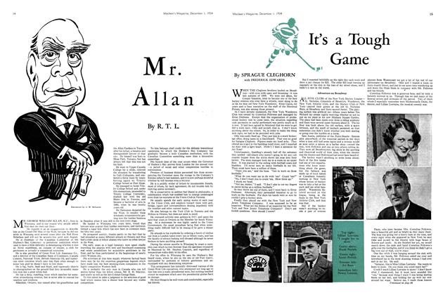 Article Preview: It's Tough Game, December 1934   Maclean's