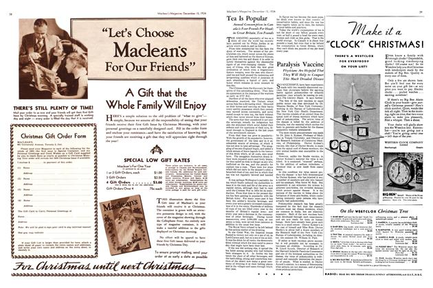 Article Preview: Paralysis Vaccine, December 1934 | Maclean's