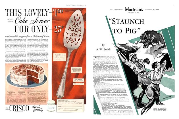 """Article Preview: """"STAUNCH TO PIG"""", December 1934   Maclean's"""