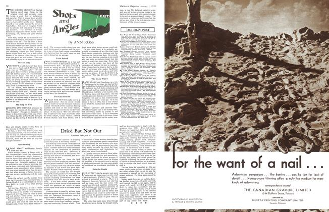 Article Preview: Shots and Angles, January 1st 1935 1935   Maclean's