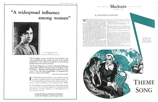 Article Preview: THE ME SONG, January 1st 1935 1935 | Maclean's