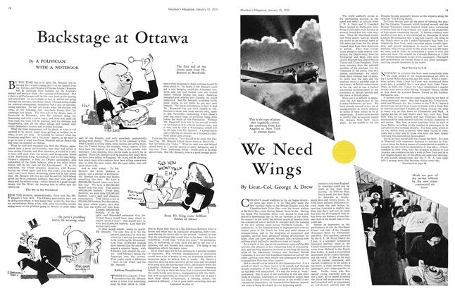 Article Preview: Backstage at Ottawa, January 15th 1935 1935 | Maclean's
