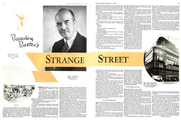 Article Preview: Beverly Baxter's STRANGE STREET, February 1st 1935 1935 | Maclean's