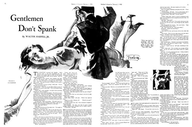 Article Preview: Gentlemen Don't Spank, February 1st 1935 1935 | Maclean's