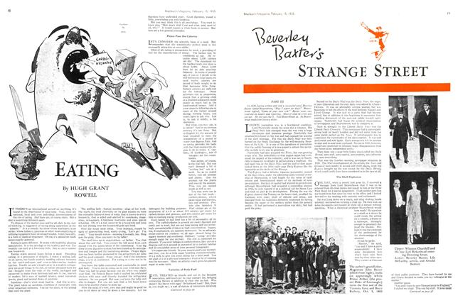 Article Preview: Beverley Baxter's STRANGE STREET, February 1935 | Maclean's